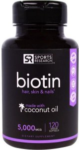 Biotin 5000 MCG Sports Research 120 Veg Softgels