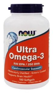 Ultra Omega 3 NOW 500 EPA / 250 DHA - 180 Softgels