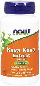 Kava Kava Extract NOW 250mg 60 Veg Caps