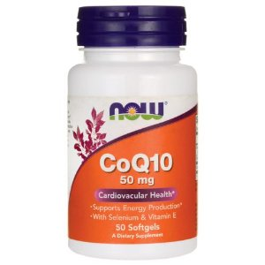 COQ10   -   50 mg - 50 Softgels -  NOW