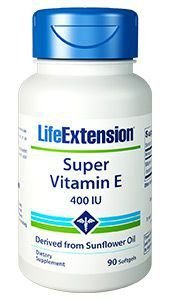 Super Vitamina E - 400 IU - 90 Softgels  - Life Extension