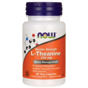 L Theanine NOW 200 mg 60 Veg Caps