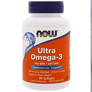 Ultra Omega 3  500 EPA /250 DHA  NOW 90 Softgels
