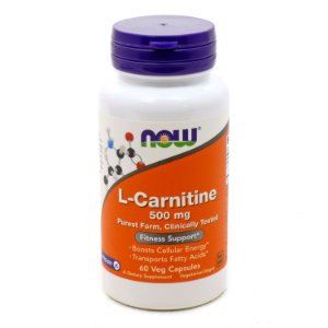 L Carnitina  NOW 500 mg 60 Veg Caps