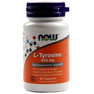 L Tyrosine NOW 500 mg 60 Caps