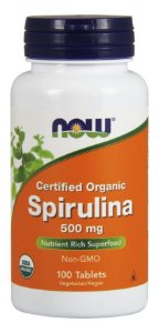 Spirulina 500mg NOW - 100 tablets