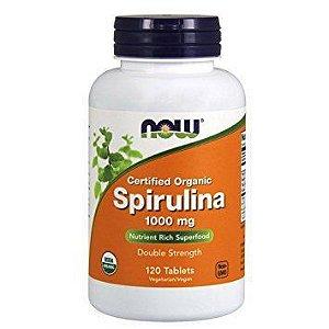 Spirulina 1000 mg NOW ORGANIC 120 tabs