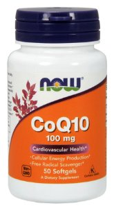 CoQ10 100mg NOW 50 Softgels