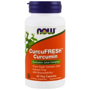 CurcuFRESH Curcumin 60 Veg Capsules NOW