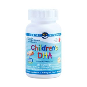 Children's DHA Nordic Naturals 250 mg Omega 3 - 90 caps