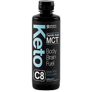 Keto C8 - Caprylic Acid C8 MCT Oil - Sports Research 454 ml