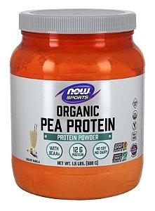 Pea Protein ORGANIC Vanilla NOW 1.5 lbs