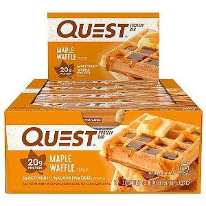 Quest Bar Maple Waffle - Caixa com 12 Unidades - FRETE GRATIS