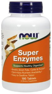 Super Enzymes NOW 180 tablets  - FRETE GRATIS