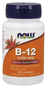 Vitamina B12 5,000mcg NOW 60 Lozenges