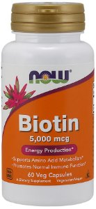 Biotin 5,000 mcg NOW  60 Veg Capsules