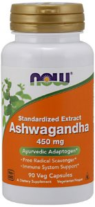 Ashwagandha 450 mg NOW -  90 Veg Capsules