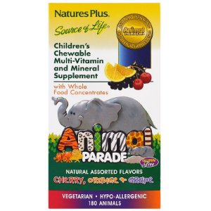Nature's Plus, Animal Parade, Children's Chewable Multi-Vitamin & Mineral, Assorted Flavors, 180 Animals