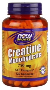 Creatina Monohydrate 750 mg NOW 120 Capsules