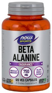 Beta-Alanine  750 mg  NOW  120 Capsules