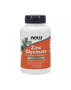Zinc Glycinate  NOW 120  Softgels