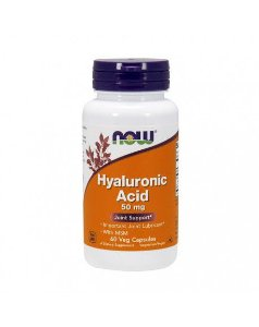 Hyaluronic Acid with MSM  NOW 60 Veg Capsules
