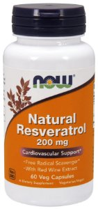 Natural Resveratrol 200 mg NOW 60 Veg Capsules