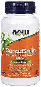 CurcuBrain 400mg NOW 50 Veg capsules