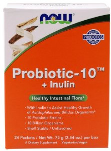 Probiotic 10 + Inulin NOW - 24 saches
