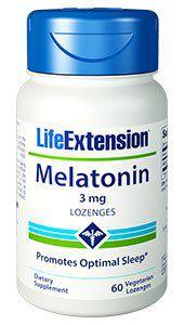 Melatonina 3mg Life Extension 60 Veg Lozenges