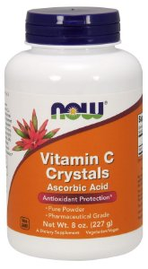 Vitamina C Crystals Powder NOW 227g