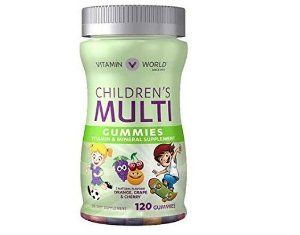 Vitamina World Children 's Multivitamin Gummies 120 gomas - FRETE GRÁTIS