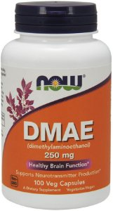 DMAE 250 mg NOW 100 Veg Capsules