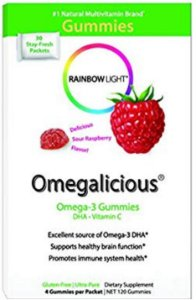 Omegalicious - Omega 3 Dha + vitamina C - 30 pacotinhos com 4 gummies cada - FRETE GRÁTIS