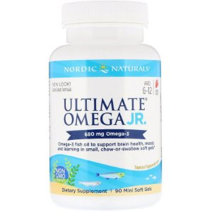Ultimate Ômega JR 680 mg - Nordic Naturals 90 Mini Softgel