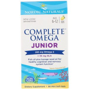 Complete Ômega JR 283 mg ômega 3 + 35 mg GLA Nordic Naturals 90 Mini Softgel