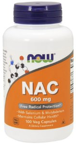NAC 600 mg NOW 100 Veg Capsules