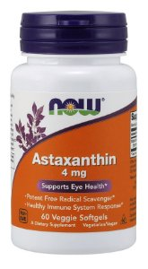 Astaxanthin 4 mg NOW 60 Veggie Softgels
