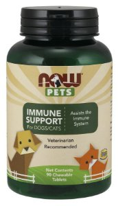 Immune Support para cães e gatos NOW PETS 90 Chewables