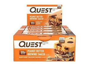 Quest Bar peanut butter brownie smash Caixa com 12 Unidades Frete Grátis