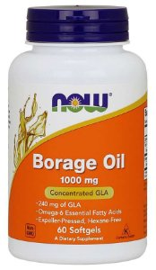 Borage Oil 1000 mg NOW 60 cápsulas