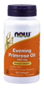 Evening Primrose Oil 500 mg  NOW 100 Softgels