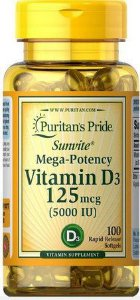 Vitamina D3 125 mcg 5.000 IU PURITANS 100 softgel