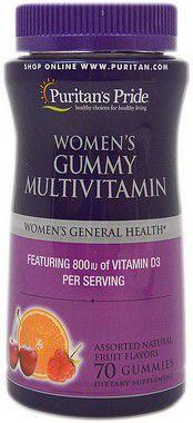 Multivitaminico para mulheres Women's gummies  Multivitamin    PURITANS Pride  - 70 balas de goma
