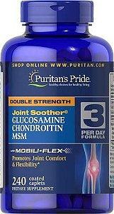 Glucosamina e  Condroitina com MSM Double Strenght 240 caplets PURITANS Pride
