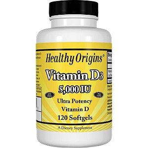 Vitamina D3 5000iu 120 softgels HEALTHY Origins