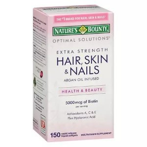 Hair, Skin & Nails 5000mcg - Nature's Bounty - 150 cápsulas