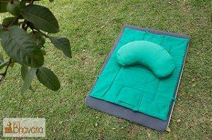 07 - Almofada para meditação + tapete/bolsa