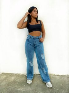 Calça Wide leg - Jeans