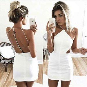 Vestido Ayla Decote Costas branco